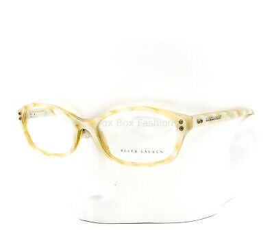 10003b6a4607 RALPH LAUREN RL 6091 5358 Eyeglasses Optical Frame Glasses Ivory Gold Horn  51mm