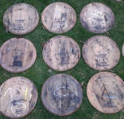Bourbon Barrel Heads and Backing Plates