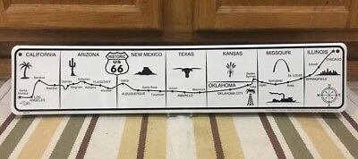 Historic US Route 66 Highway Road Trip States Cities Gas Oil Parts Vintage Style