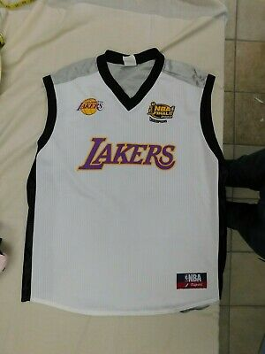 b3c2ca24 Shaquille O'Neal Los Angles Lakers White 2002 NBA Finals Majestic Jersey sz  2X