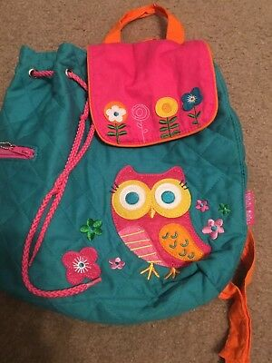 cd39de4810bf STEPHEN JOSEPH GIRLS Quilted Owl Backpack and Lunch Box - Kids Book ...