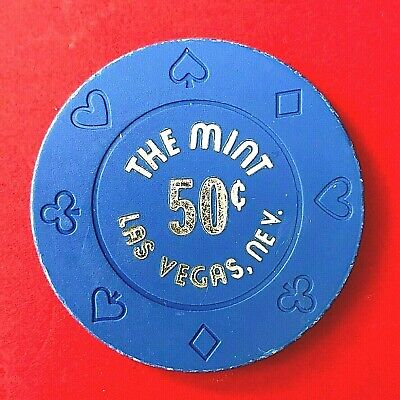 THE MINT  rare 50 cent Fractional Las Vegas Casino Chip