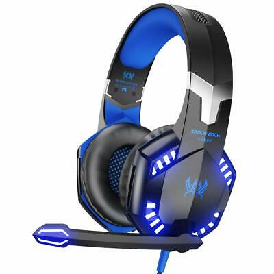 3.5mm LED Gaming Headset Surround Sound Headphones For PS4 XBOX One NIN PC Mac
