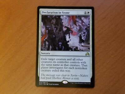 Shadows Over Innistrad ~ DECLARATION IN STONE rare Magic the Gathering card