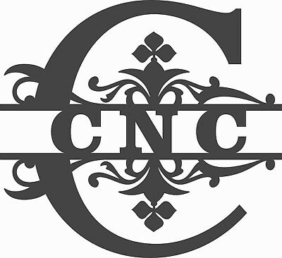 DXF CDR  EPS PNG of PLASMA LASER AND ROUTER Cut -CNC SPLIT  Monogram VECTOR
