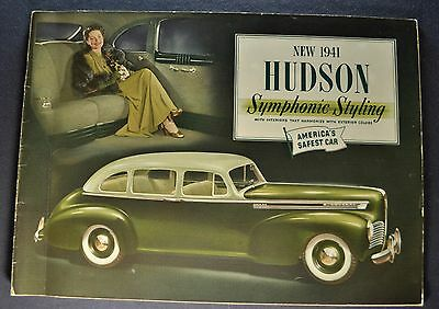 1941 Hudson 28pg Prestige Catalog Brochure Commodore Super-Six Excellent Orig 41