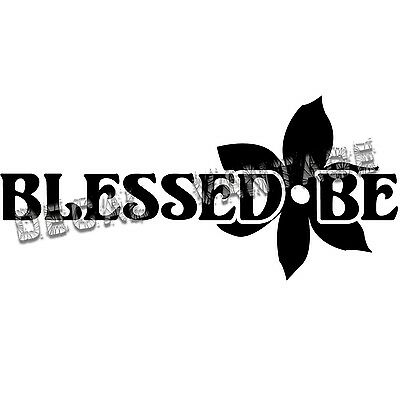 Blessed Be Script Vinyl Sticker Decal Wicca Witch Choose Size /& Color