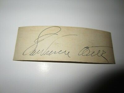 Lawrence Welk autographed  1 1/2 x 4 card