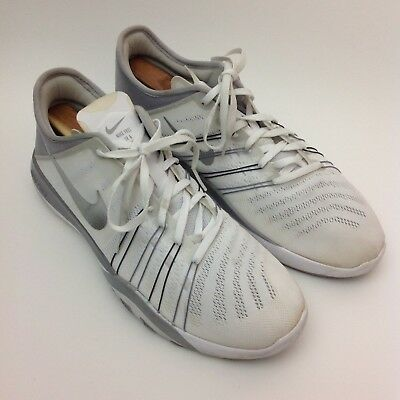 7a3d69296d519 Nike Free TR 6 Running Shoes 833413-100 Women s Size 11.5 White Metallic  Silver