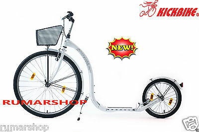 Wow New Nieuw Original Kickbike City G4 White + Basket Scooter Step