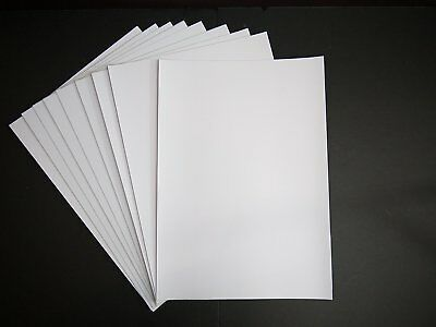 5 Sheets of A4 Clear Sticky Back Plastic/ Self Adhesive/Fablon/Film Book Cover.