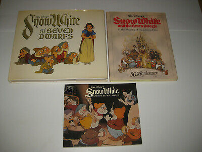 Disney 3 Book Set-Snow White And The Seven Dwarfs-2 Hardcover+1 Softcover