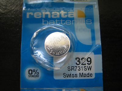 Renata Battery 329 for SWATCH **Expiry Date: April 2019**