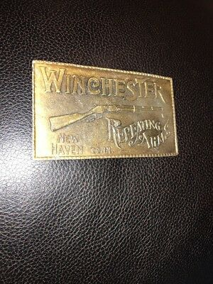 LG15126 GREAT VINTAGE 1970s **WINCHESTER REPEATING ARMS** GUN BELT BUCKLE