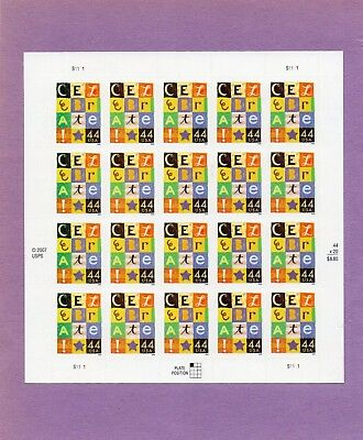 U.S. COMM PANE OF 20 SCOTT#4407 2009 44ct CELEBRATE MNH P#S1111