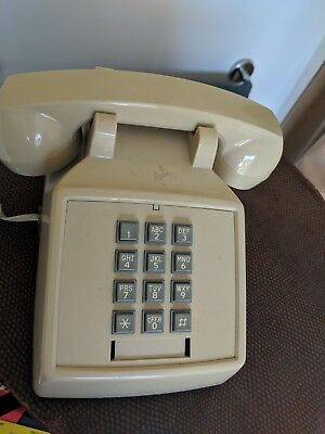 Vintage Push Button Phone Dial Tone Northern Telecom Beige