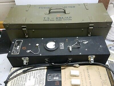 US Army Signal Corps WW2 Frequency Meter TS-69A/AP With Box and Extras RARE