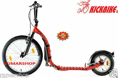 Wow New Nieuw Original Kickbike Freeride G4 Red Scooter Step