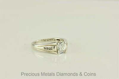 Sterling Silver 1ct Princess Cubic Zirconia Engagement Solitaire Ring 925 Sz: 8