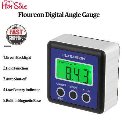 Digital Bevel Box Gauge LCD Angle Finder Protractor Waterproof GreenBacklight US