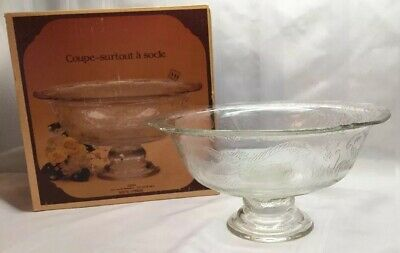"Vintage Indiana Glass Recollection Footed Vegetable Bowl Pedestal 9.5""  B7"