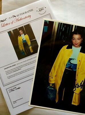 BJORK Signed Hand Sign Autographed (Rare) Includes Authenticated Includes COA
