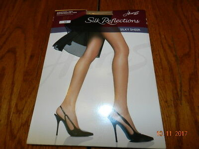 f4c9d4d4f548e Hanes Silk Reflections Control Top Reinforced Toe Pantyhose Nylons Sheer AB  718