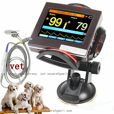 Veterinary Vet Touch Screen Spo2 PR Patient Monitor+Ear Tongue Spo2 Probe,2G,SW