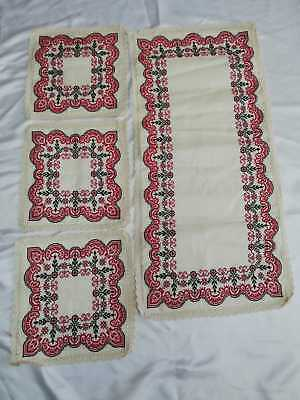 Handmade Embroidery Palestinian Traditional Folklore 5pcs Table Clothes 100%Silk