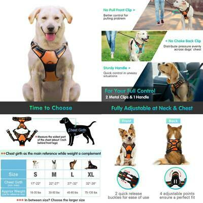 Eagloo No Pull Dog Harness With Front Clip, Walking Pet Harness With 2 Metal Rin