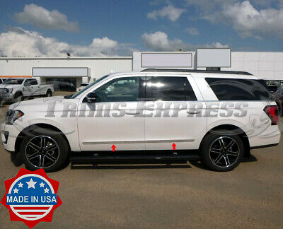 """2018-2020 Ford Expedition 4Pc Flat Body Side Molding Trim Stainless Steel 1 1//2/"""""""