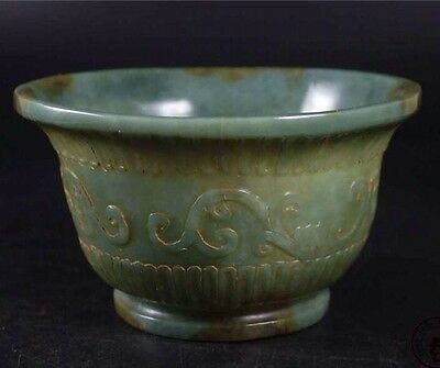 Antique Mughal Style Decorative Chines Jade Bowl Wine Cup