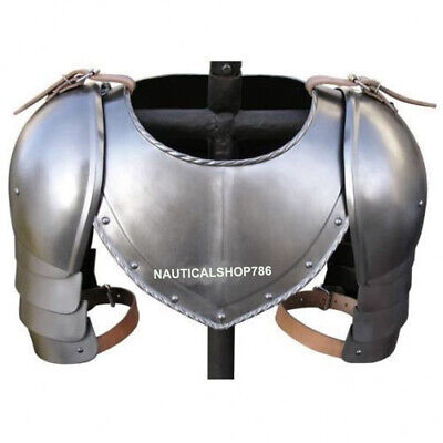 Armor 15th Century Gorget And Pauldron Medieval Knight Reenactment Replica