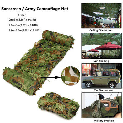 Camouflage Net Cover Hunting Shooting Hide Army Camping Woodland Camo Netting