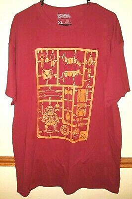 ed4e1ff70444 Dungeons & Dragon Lootwear Lootcrate Mens XL Graphic T-Shirt Red
