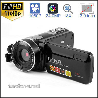 "FULL HD 1080P 24MP 3""LCD 18XZOOM Night Vision Digital Video DV Camera Camcorder"