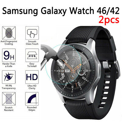 2x Tempered Glass Screen Protector Film Guard Fit Samsung Galaxy Watch 42 46mm