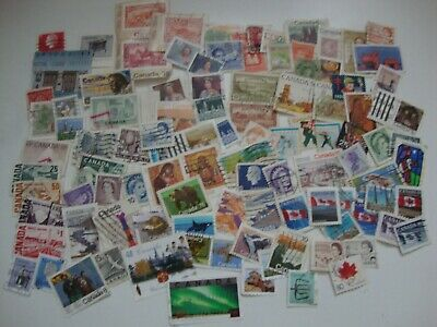 100 Asst. Postage Stamps from Canada, Used,