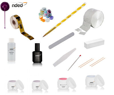 Kit Ricostruzione Unghie Completo Gel Uv Made In Germany Monofasico Nded Nail Ar