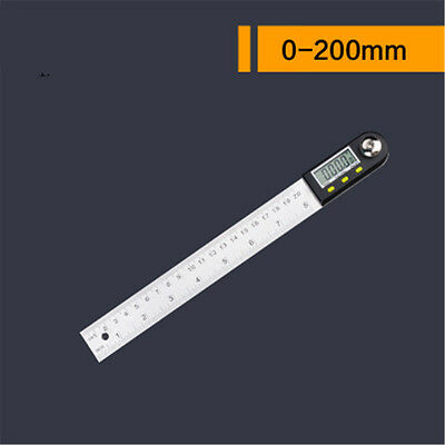 Digital Electronic Protractor Angle Finder Miter Goniometer Gauge Ruler 200mm
