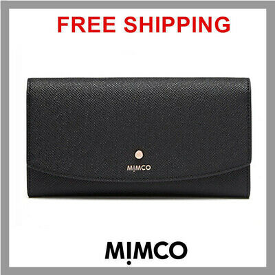 MIMCO SUBLIME CONTINENTAL WALLET BLACK ROSE GOLD Leather Purse BNWT DF RRP$199