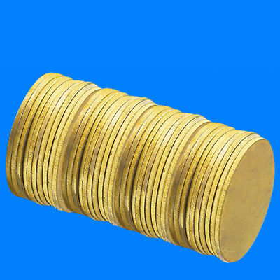 Dia 5-10mm H62 Solid Brass Round Discs Blanks Flat Plate For DIY Material Anode