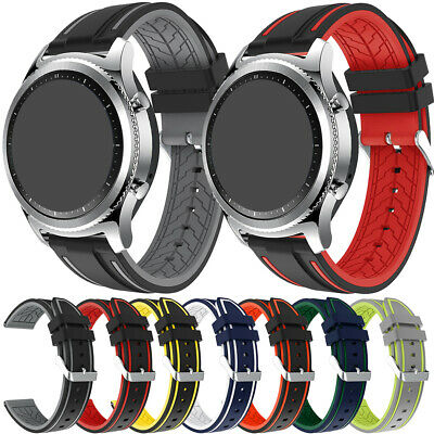 Universal Sports Gel Silicone Wrist Watch Band Bracelet Replacement Strap 22mm