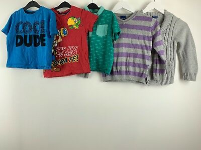 Boys Clothes Bundle Age 5/6 Years T-shirts Sweater Cardigan Cherokee George