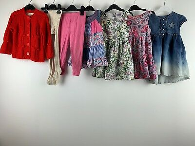 Girls Clothes Bundle 2/3 Yrs Dressess Cardigan Tight Leggings Floral Pink F&F