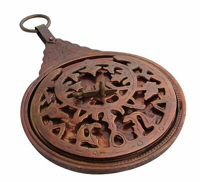 Antique Nautical English Arabic Calendar Nautical Solid Brass Astrolabe Calendar