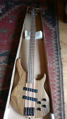 Deluxe 4 String Thru Neck Electric Bass Guitar With Active Pick ups