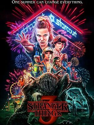 fertig gerahmtes 3D Poster 25x20 cm One Sheet Stranger Things