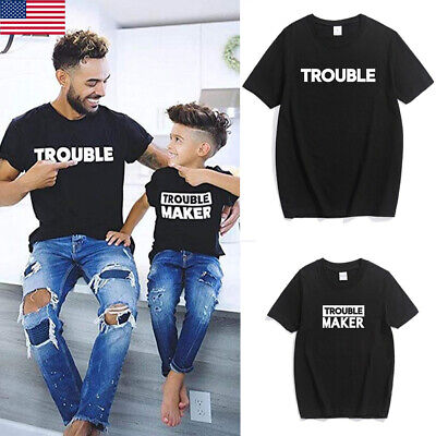 357e4a0c US Family Clothes Shirts Father Son Matching T-Shirts Daddy and Kids Fathers  Dad