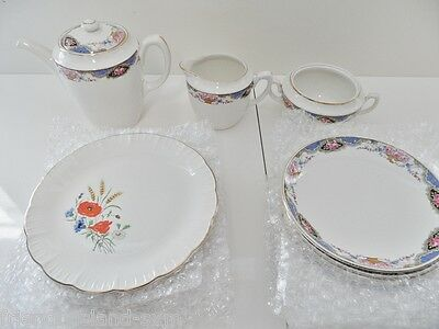 Lot Faïence Fine Assiettes Coupelles Pot Digoin & Sarreguemines Veritable Opaque
